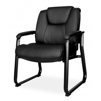 Heavy duty King Cobra leather visitor chair.