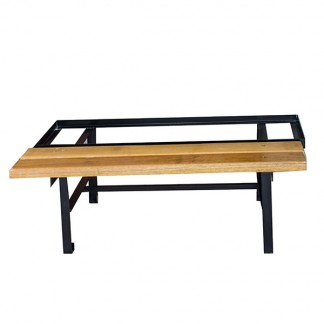 Heavy duty Meranti Bench that holds 4 lockers.(Suitable for 1 to 6 door lockers)