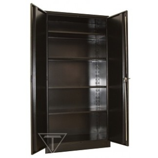 Heavy Duty Stationery Cupboard with 4 shelves. 1800mm Height in BLACK.